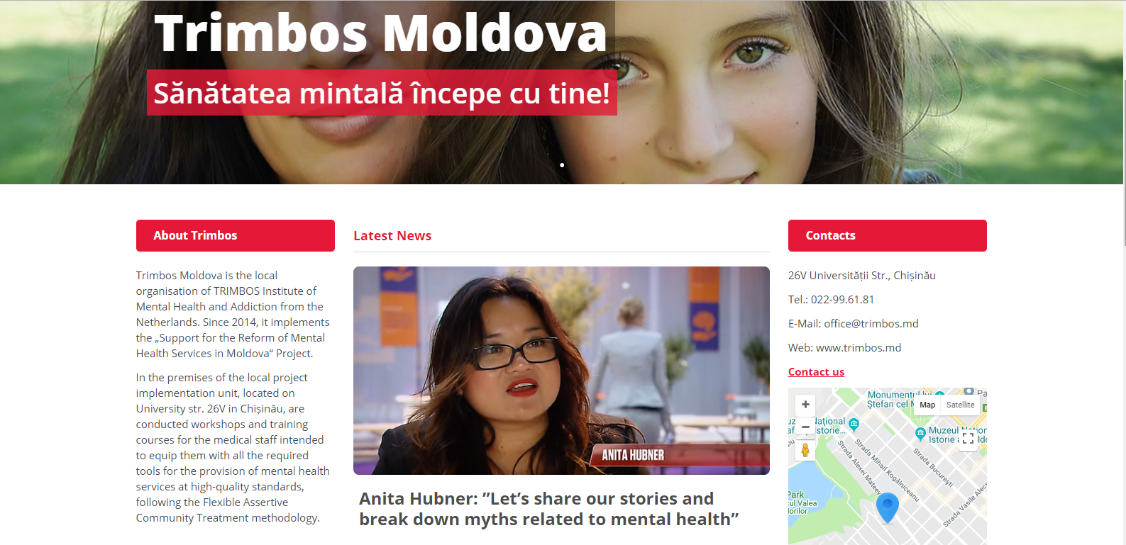 Trimbos Moldavie - screenshot website Trimbos Moldova